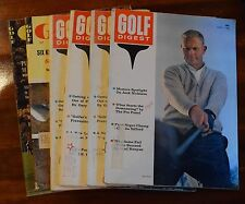 Lot Of (7) Golf Digest Magazines All From 1962 April June X3 Aug Nov July