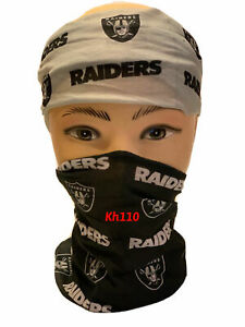 NFL Las Vegas Raiders Face Mask Bandana Balaclava Head wear Neck Scarf