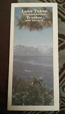 AAA Map Lake Tahoe Communities Truckee and Vicinity 11-99