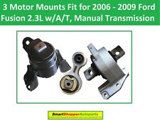 3 Motor Mounts Fit for 2006 - 2009 Ford Fusion 2.3L Engine Transmission A/T M/T