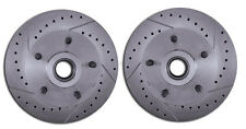 GM Front Disc Brake Crossed Drilled & Slotted Rotors A,F,X Body Chevelle Camaro