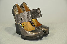 NWOB $1,450 LANVIN  BROWN SNAKE SKIN LEATHER HIGH HEEL SHOES SZ 40.5 /10.5 US