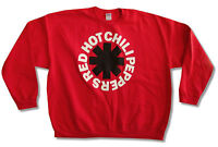 """RED HOT CHILI PEPPERS """"ASTERISK"""" RED CREW NECK SWEATSHIRT NEW OFFICIAL ADULT"""