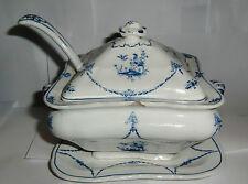 BOOTHS-Antico Fagiano Pattern zuppiera, Coperchio, Cucchiaio E VASSOIO - - c1910