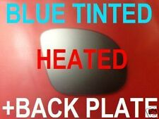 BMW M3 E36 STYLE TUNING WING MIRROR GLASS BLUE HEAT +PLATE