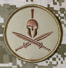 SPARTAN US ARMY USA ISAF MORALE MILSPEC DESERT BADGE PATCH VELCRO® BRAND