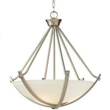 Home Decorators 3-Light Brushed Nickel Foyer Pendant w/ Etched Hammered Glass