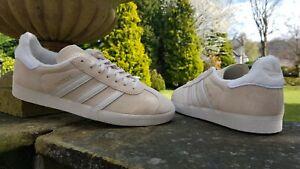 Adidas Originals Gazelle Fashion Trainers Ivory / Beige BNIBWT Sizes UK 6-11