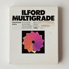 """ILFORD Multigrade Modified 6x6"""" Set of 12 Filters for Darkroom Printing"""