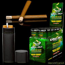 24 x Cyclone Kingsize Pre-Rolled Hemp Cones + Reusable Container | Mean Green