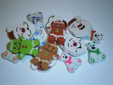 12 x Assorted Christmas Erasers, Eraser, Stocking Stuffers,Santa and more