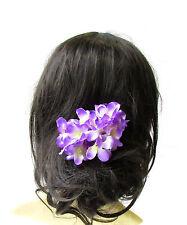 Large Purple Hydrangea Flower Hair Pin Bridesmaid Blossom Headpiece Floral 1986