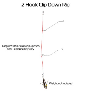 BZS 2 Hook Clip Down Rig - Sea Fishing Rig (Hand-tied in the UK)