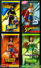 Wonder Woman Barbie Doll Batgirl Supergirl Poison Ivy Super Hero Lot 4 CK