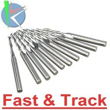 10 Frese 2mm  2 taglienti Flute Carbide End Mill Router 1/4 inch CNC Engraving
