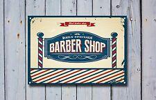 Barber SHOP insegna, segno di metallo, Barbiere segni, stile vintage, barbiere, 516