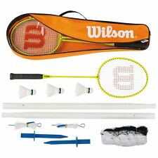 Wilson 4 Player Recreational Alloy Racquet Nylon Shuttlecocks Badminton Set