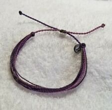 Pura vida purple  multiple colored bracelet silver charm