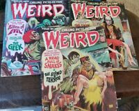 Weird Comics, August 1973, April 1973 and December 1972.