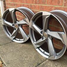 """Alloy Wheels 4 x 18"""" TTRS Twist Style et45 5x112 VW Golf Caddy Audi A3 A4 A6 TT"""