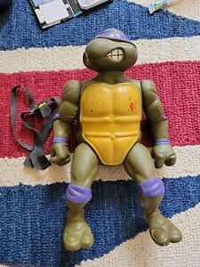 "Vintage TMNT Donatello 12"" Figure 1989 Mirage Playmates Belt Poor Condition"