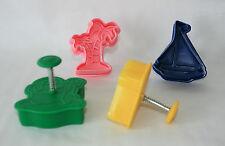 Plunger Cutters, Beach, Seaside Theme, 4 Cutters Pack, Sugarcraft, Pie Crust