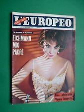 L'EUROPEO 1961 Gina LOLLOBRIGIDA Rina Morelli Annette Strøyberg Vittorio Gassman