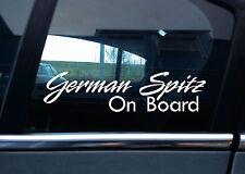 "2x  "" German Spitz On Board "" Dog in car warning , window / bumper STICKERS"
