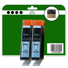 2 Black non-OEM Chipped Ink Cartridges for HP 3070A 3520 4610 4620 4622 364