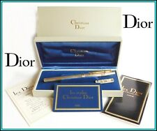 Genuine CHRISTIAN DIOR 925 Sterling Silver & Gold Plated ROLLERBALL - N.O.S.