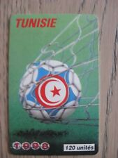 CARTE TELEPHONIQUE TUNISIE COUPE DU MONDE FOOTBALL 1998 FRANCE 98 WORLD CUP WM