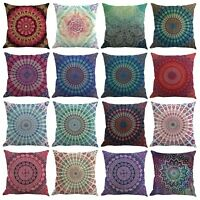 45x45cm Cotton Linen Flower Floral Throw Pillow Case Cushion Cover Home Decor