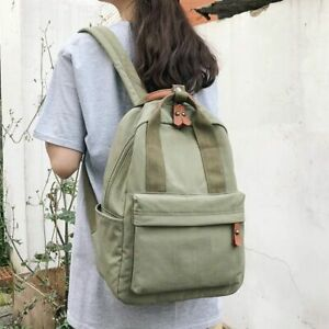 Simple Waterproof Nylon Back Bag For Women With Hand Tote Strap Bag Zipper Close