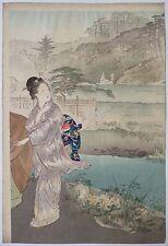 Estampe japonaise de Ogata GEKKO (1859-1920) vers 1890 Geisha Japan