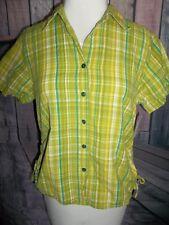 """CAPPAGALLO"" DESIGNER Button down Blouse, Lime Green, Size Medium, Fun Shirt"