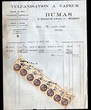 "BOURGES (18) PNEUS / VULCANISATION RECHAPAGE ""DUMAS"" en 1933"