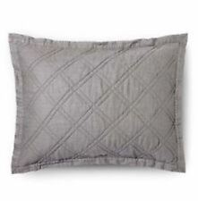 Threshold Gray Linen Blend Standard Sham Quilted Pillow Sham New (Have 2)