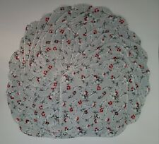 """Cloth Wipes 20 Baby Flannel 8""""x8"""" Girl Gray Red Floral White Unpaper Tissue"""