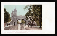 1901 horse & buggy Porte St.Louis grande allee Quebec Canada postcard