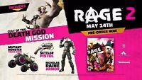 Rage 2 (XB1) Pre-order Bonus DLC Key Code Settlers Pistol Nicholas Raine Armor +