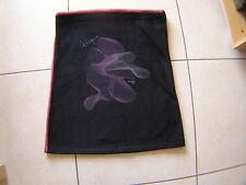 Jupe Double Jeu courte noire rose bordure rose foncé taille élastiquée T 40/42