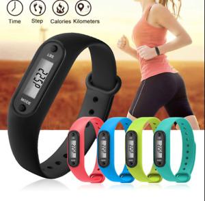 Digital LCD Pedometer Wrist Step Distance Run Walking Calorie Counter Bracelet