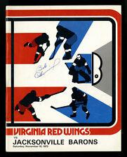1973 BOB LEMIEUX AUTOGRAPHED~VIRGINIA RED WINGS JACKSONVILLE BARONS~AHL HOCKEY