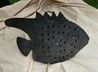 Vintage Metal Hanging Fish Tealight Candle Holder Collectible