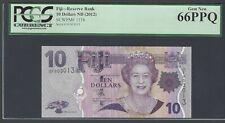 Fiji 10 Dollars ND(2012) P111b Uncirculated Graded 66