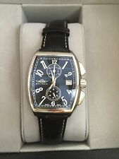 NIB Balmer Steel Continental Chronograph Blk Leather Strap Mens Watch