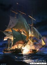Arte de la guerra naval Tarjeta Post batalla de Cádiz HMS Amphion Nelson Edad de Vela barco de guerra