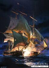 Naval war  art post card Battle of Cadiz HMS Amphion Nelson Age of Sail warship