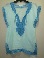 Calypso St. Barth Embroidered Boho Summer Top Sz.S
