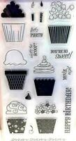 Cupcakes Candles & Icing Birthday Fiskars Clear Acrylic Stamp Set NEW! 01-005518